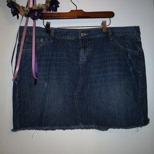 Old Navy jean mini skirt